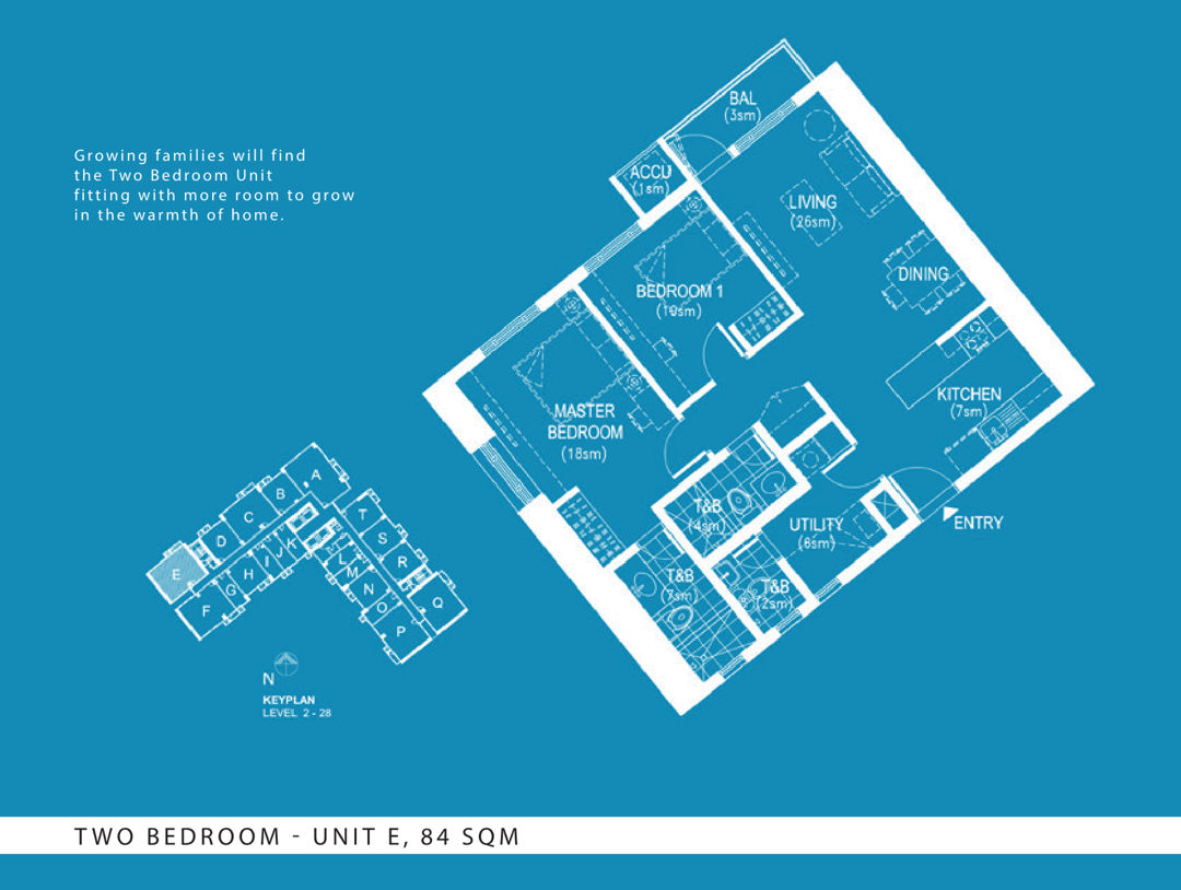The Arton 2BR layout