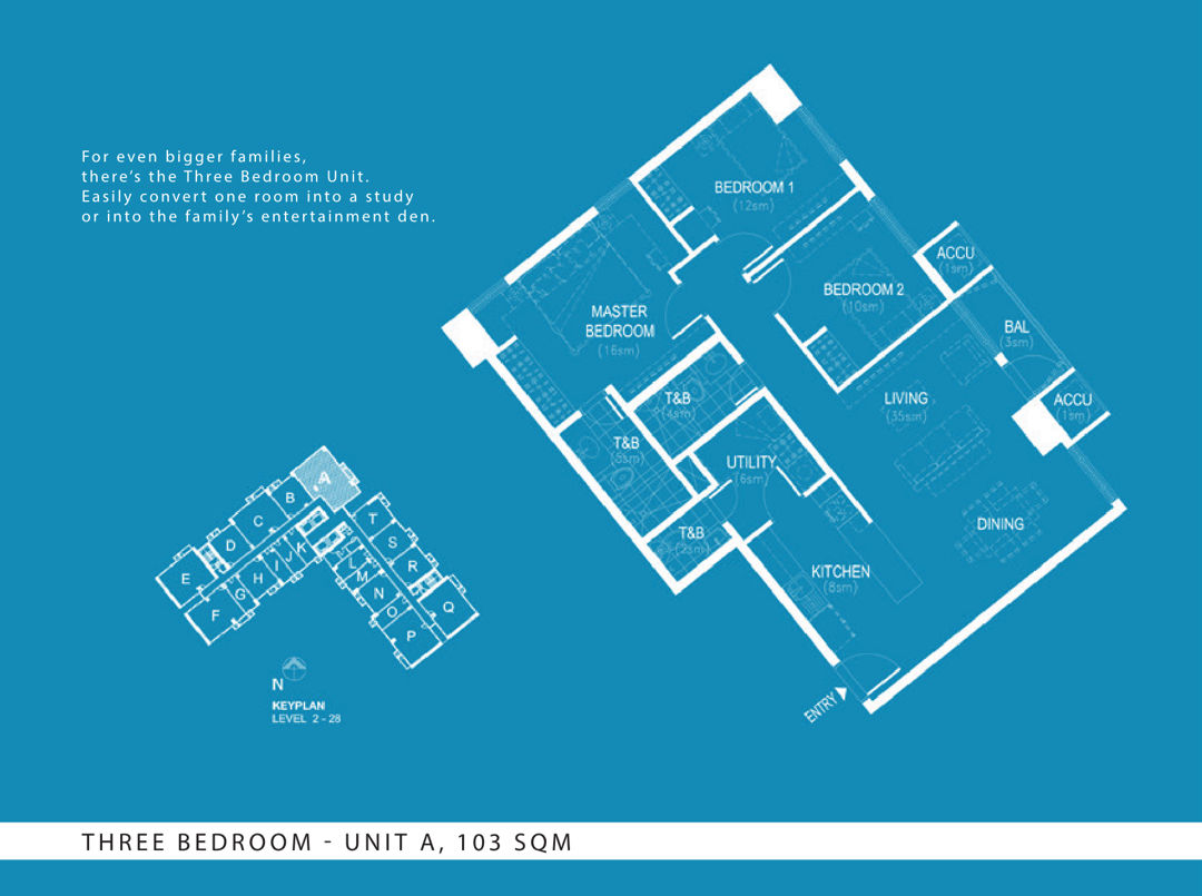 The Arton 3BR layout