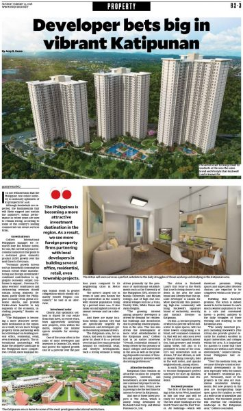Arton by Rockwell - Inquirer Article Jan 2018